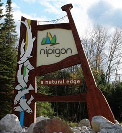 Nipigon Sign - The Final Product