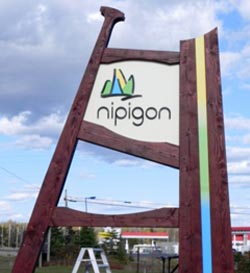 Nipigon Sign - Adding Some Elements